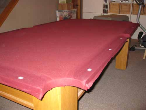 pool table dismantling